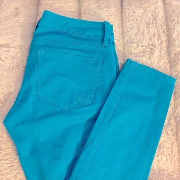 Express Jeans - Skinny Leg - Teal- Size 0